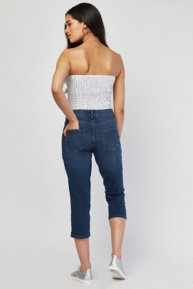 Capri Length Denim Jeans