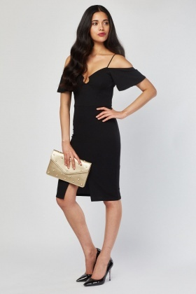 O-Ring Keyhole Bodycon Dress