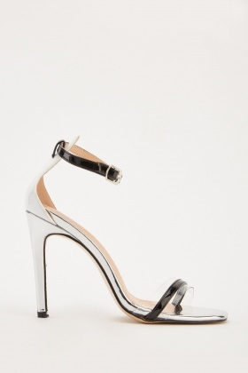 Ankle Strap Contrast Heeled Sandals