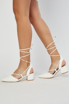 Tie Up Court Heels