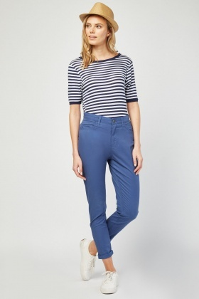 Roll Up Hem Chino Trousers