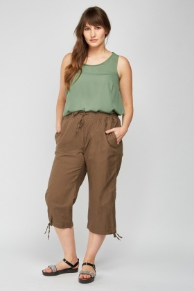 Crop Tie Up Trousers
