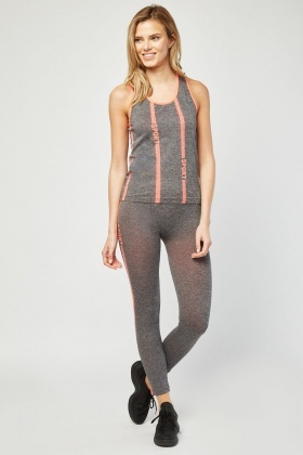 Sports Tank Top And Leggings Set