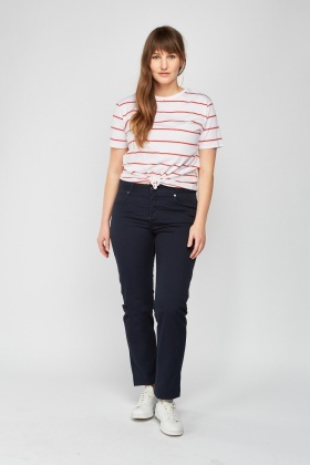 Straight Fit Casual Jeans