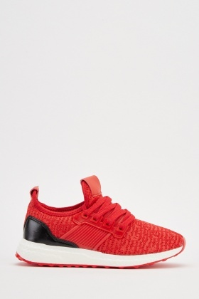 Lace Up Textured Trainers