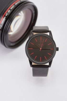 Mens Black Analog Watch