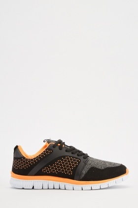Speckle Jersey Contrast Trainers