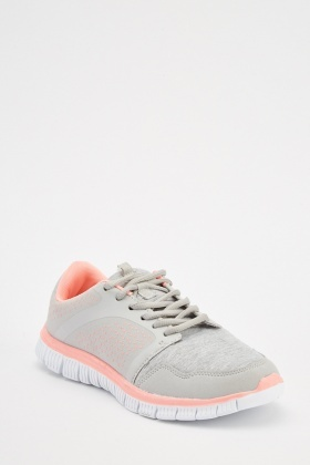 Speckled Contrast Low Top Trainers