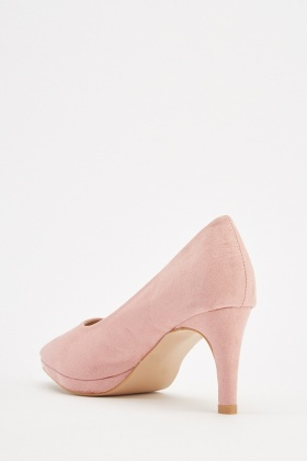 Suedette Low Heel Court Shoes