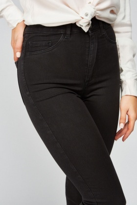 High Waist Black Jeggings