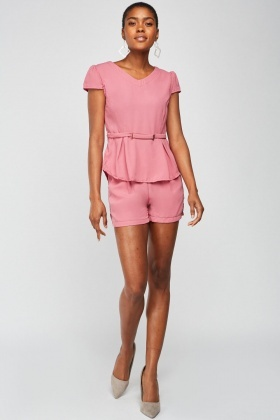 Cap Sleeve Chiffon Top And Shorts Set