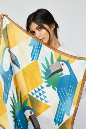 Tropical Pecan Bird Scarf