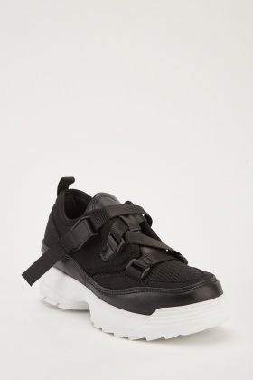 Contrasted Chunky Platform Trainers