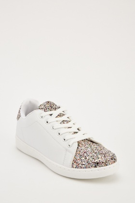 Glittered Contrast Low Top Trainers