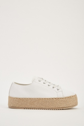 Lace Up Chunky Plimsolls