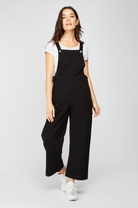 Pinafore Black Denim Jumpsuit