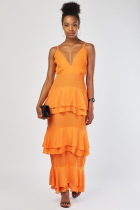 Layered Ruffle Maxi Dress