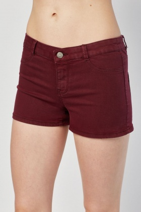 Low Waist Denim Mini Shorts