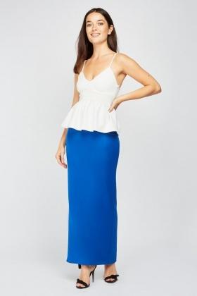 0a2cbf0dccf Plain Maxi Tube Skirt