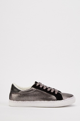 Shimmery Low Top Trainers