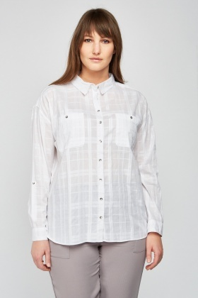 Sheer Windowpane Shirt