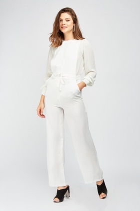 Open Side Wide Leg Jumpsuit