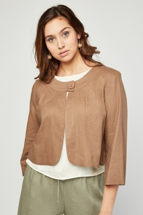 Scoop Neck Light Weight Jacket