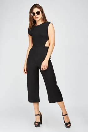 Tie Up Open Back Jumpsuit