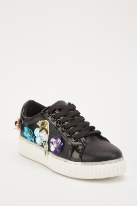 3D Flower Applique Trainers