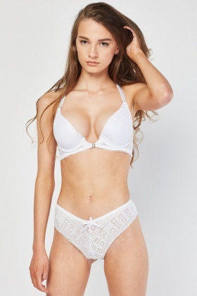 03c99c745 Triangle Back Lace Bra And Brief Set