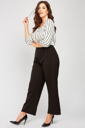 High Waist Wide Leg Trousers