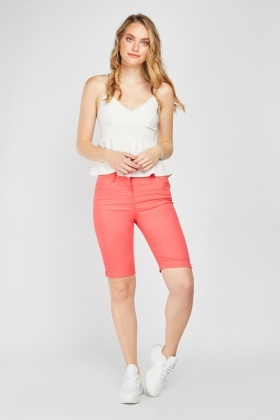 Plain Long Line Shorts