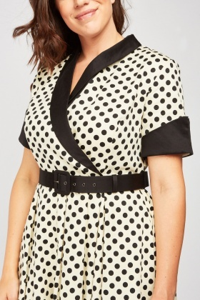 Polka Dot Frilly Vintage Dress