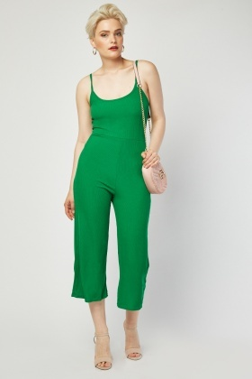 Wide Leg Rib Jumpsuit