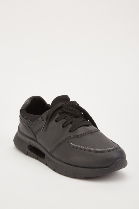 Low Top Plain Trainers