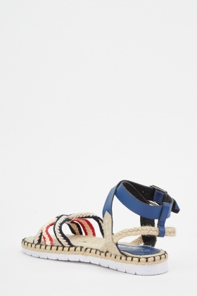 Plait Criss Cross Front Sandals