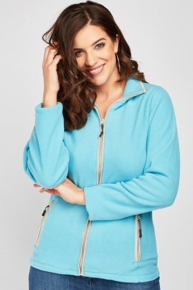 Zip Up Sky Blue Fleece Jacket