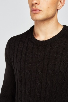 Cable Knit Front Jumper