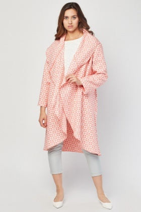 Textured Waterfall Duster Coat