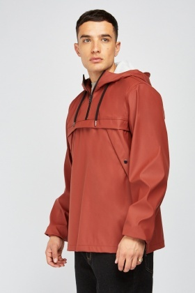 Hooded Zip Up Rain Jacket