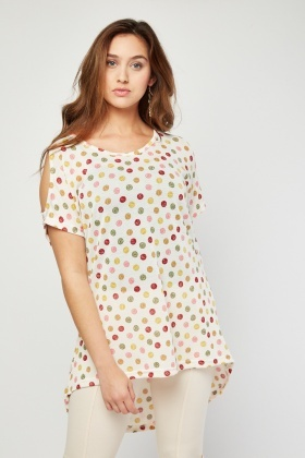 Mix Polka Dot Top