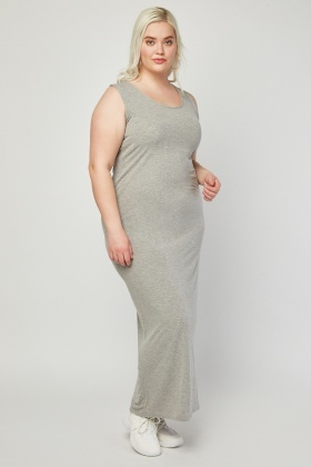 Scoop Neck Jersey Maxi Dress