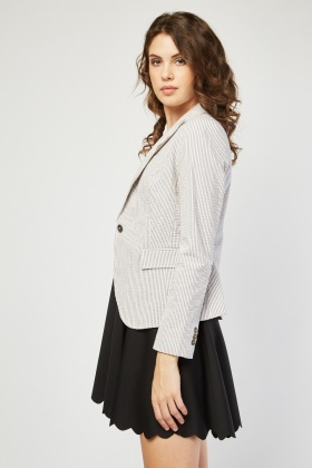 Textured Striped Blazer