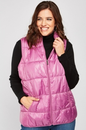 Windpane Quilted Gilet