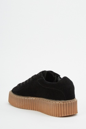 Faux Suede Chunky Creepers