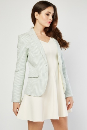 Textured Stripe Blazer