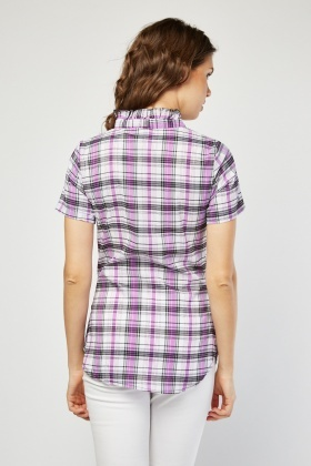 Tie Up Gingham Top