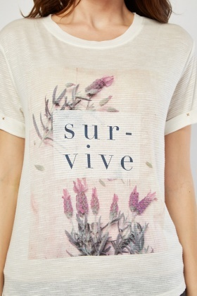 Slogan Printed Top
