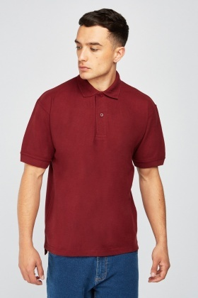 Pack Of 3 Maroon Polo Shirts