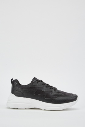 Zig Zag Cut Out Trainers